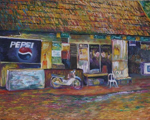 Landscape Poster featuring the painting The Sundry Store At Fraiser's Hill by Wendy Chua