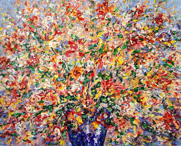 Flowers Poster featuring the painting The Sunlight Flowers by Leonard Holland