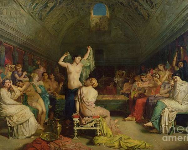 The Poster featuring the painting The Tepidarium by Theodore Chasseriau
