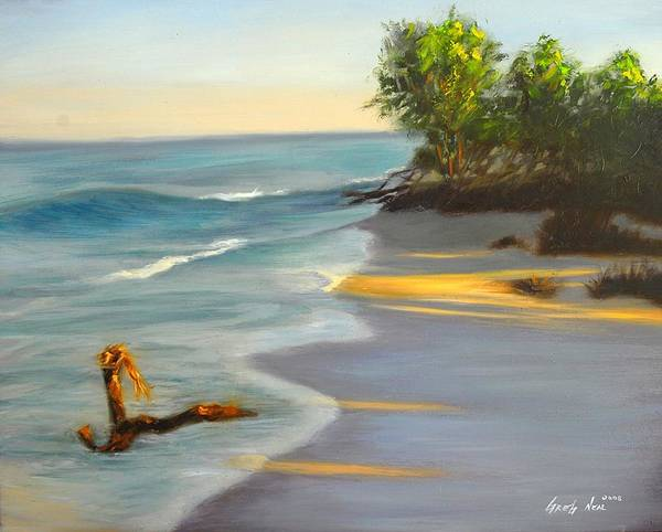 Landscape Poster featuring the painting The Tide Is Blocking The Way by Greg Neal