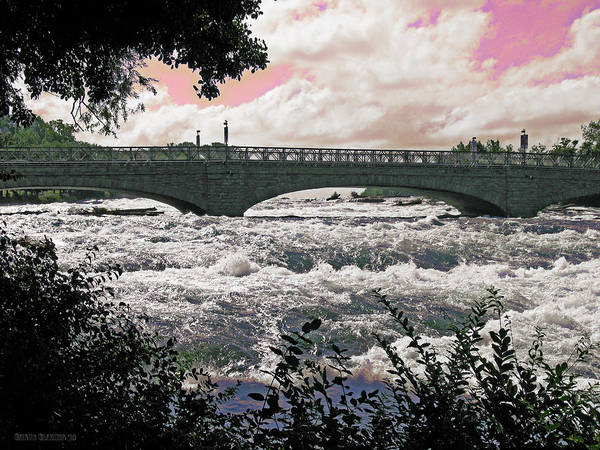 Niagara Falls Poster featuring the photograph The Torrent Above Niagara by Garth Glazier