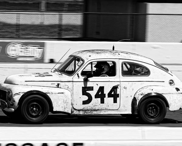 Sports Poster featuring the photograph The Tortoise -- 1963 Volvo Pv544 At The 24 Hours Of Lemons Race, Sonoma California by Darin Volpe