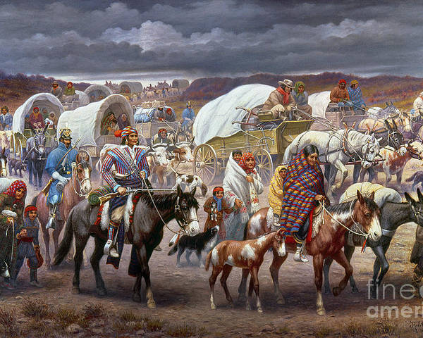 1838 Poster featuring the painting The Trail Of Tears by Granger