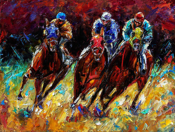 Horses Paintings Poster featuring the painting The Turn by Debra Hurd