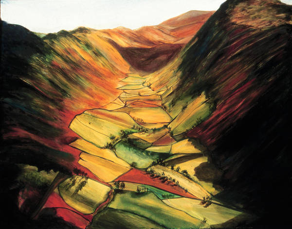 The Valley Poster featuring the painting The Valley by Ione Citrin