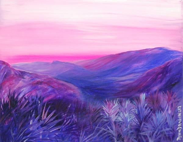Landscape Poster featuring the painting The Velvet Of The Morning by Amy Stewart Hale