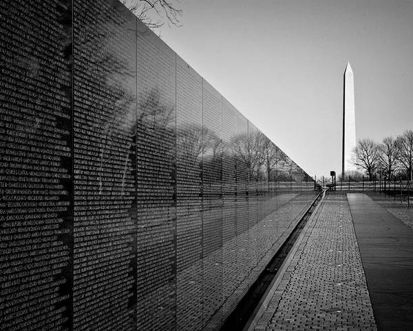 Washington Dc Poster featuring the photograph The Vietnam Veterans Memorial Washington Dc by Ilker Goksen