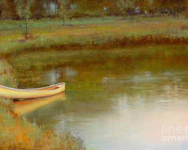 Landscape Poster featuring the painting The Water's Edge by Lori McNee