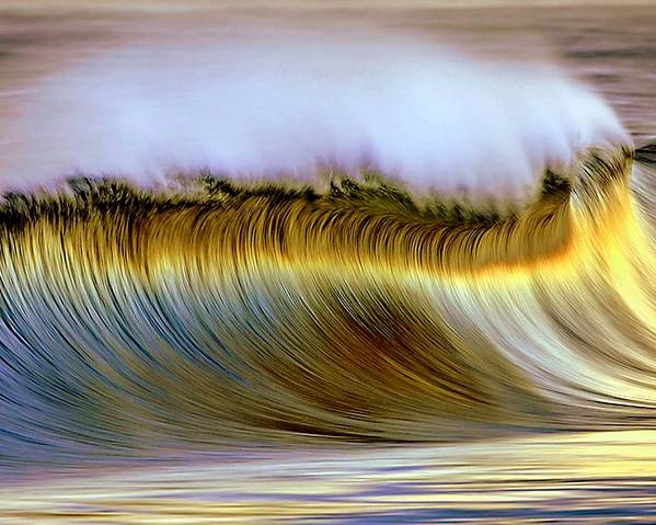 Wave Poster featuring the photograph The Wave by Zarija Pavikevik