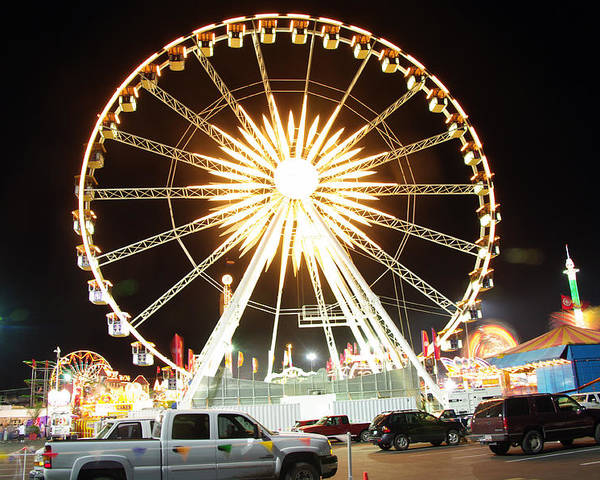 State Fair Poster featuring the photograph The Wheel by Kenneth Hess