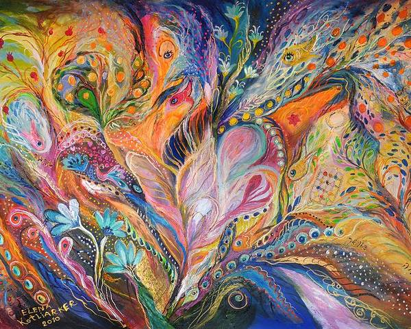 Original Poster featuring the painting The Wild Iris by Elena Kotliarker