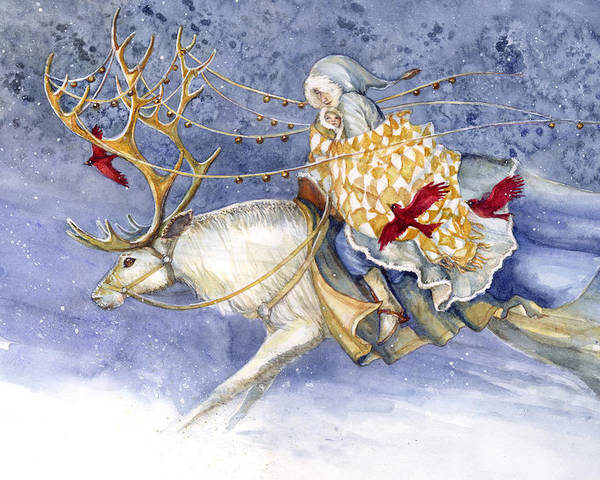 Winter Poster featuring the painting The Winter Changeling by Janet Chui