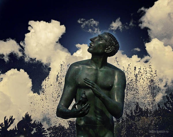 Sculpture Poster featuring the photograph The Wish by Garth Glazier