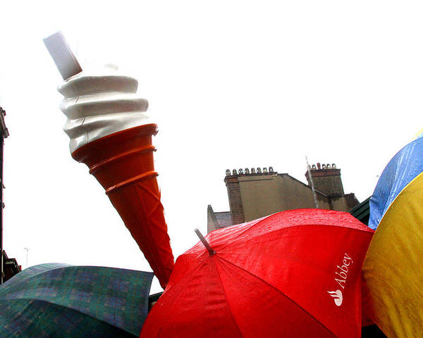 Jez C Self Poster featuring the photograph The Wrong Day For Ice Cream by Jez C Self