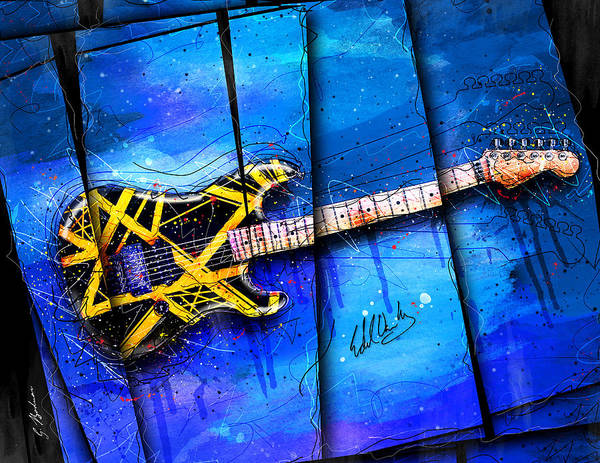 Guitar Poster featuring the digital art The Yellow Jacket by Gary Bodnar