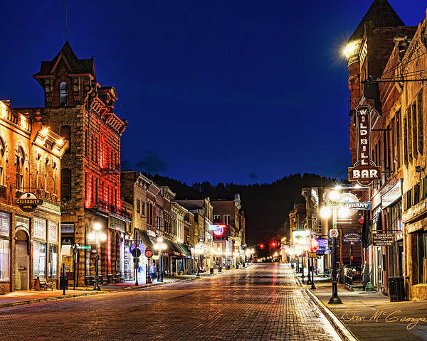 Deadwood Poster featuring the photograph Then And Now by Dan McGeorge