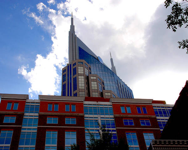 Nashville Poster featuring the photograph There Where Modern And Old Architecture Meet by Susanne Van Hulst