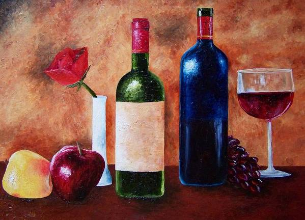 Still Life Poster featuring the painting Thicker Than Wine by Brandon Sharp