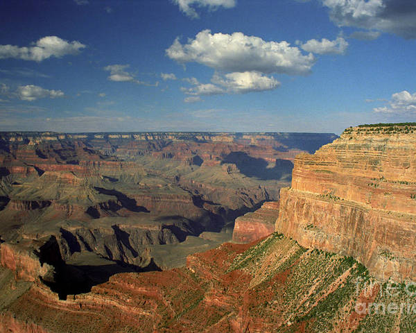 Grand Canyon Poster featuring the photograph This Is My Father's World by Kathy McClure