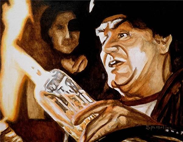 Ernest Borgnine Poster featuring the painting This Stuff Is Like Gold by Al Molina