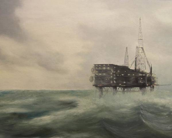 Thistle Poster featuring the painting Thistle Alpha-north Sea by Douglas Ann Slusher