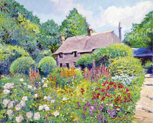 Impressionism Poster featuring the painting Thomas Hardy House by David Lloyd Glover