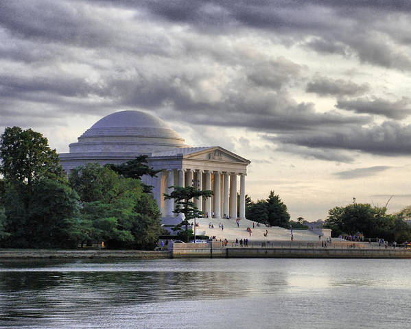 Thomas Poster featuring the photograph Thomas Jefferson Memorial by Gene Sizemore