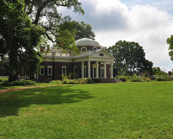 Thomas Jefferson Poster featuring the photograph Thomas Jefferson's Monticello by Bill Cannon