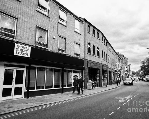 Northern Poster featuring the photograph thomas street in the Northern quarter Manchester uk by Joe Fox