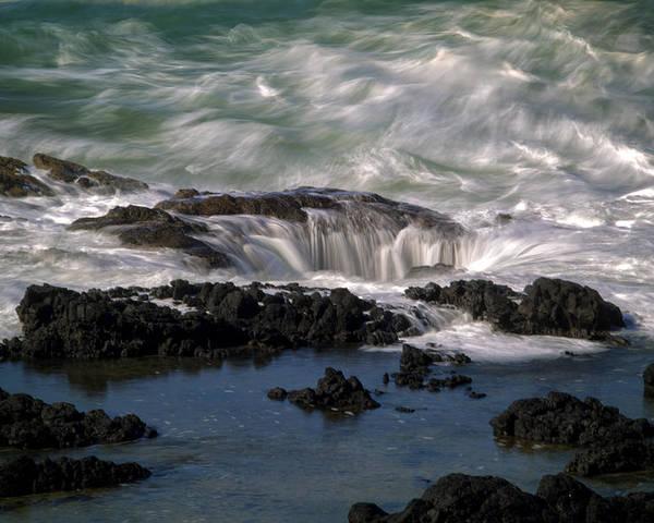 Coastal Poster featuring the photograph Thors Well by Karen Hunnicutt-Meyer