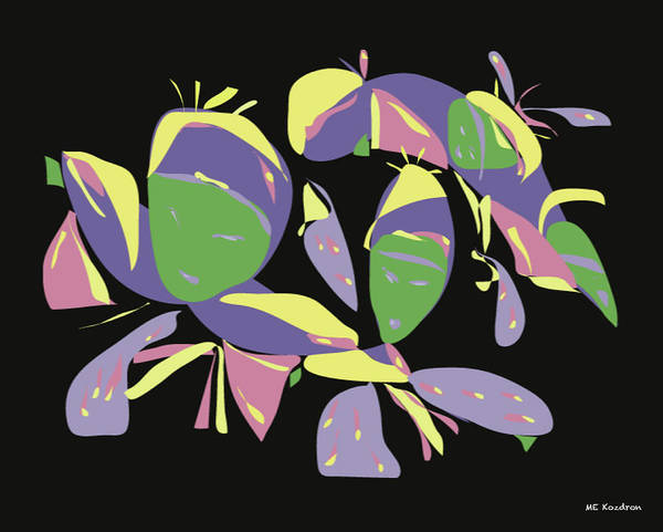 Digital Poster featuring the digital art Three Geishas by ME Kozdron