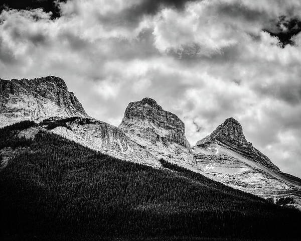 The Three Sisters Poster featuring the photograph Three Sisters Alberta by Karl Anderson