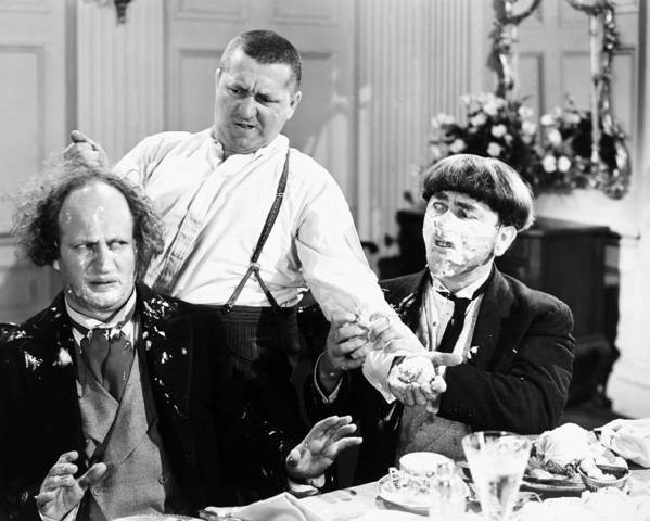 1930 Poster featuring the photograph Three Stooges: Film Still by Granger