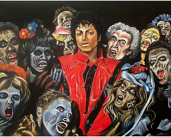 Thriller Poster featuring the painting Thriller by Jeremy Worst
