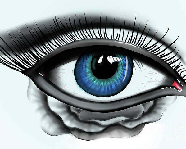 Eye Poster featuring the digital art Through My Eye by Nicholas Jex