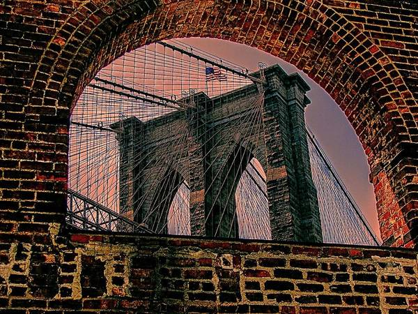New York Poster featuring the photograph Through The Arch 2 by Jeff Watts