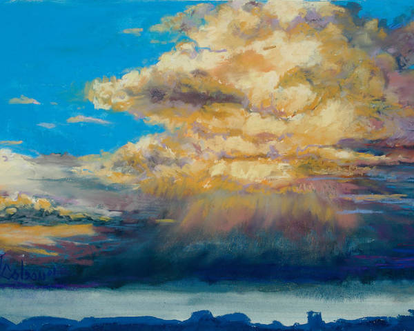 Storm Clouds Poster featuring the painting Thundeclouds by Billie Colson
