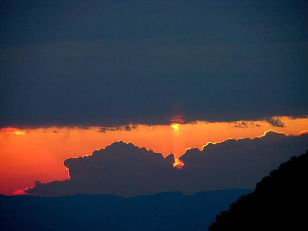 Sunset Poster featuring the photograph Thunderhead by John Geck