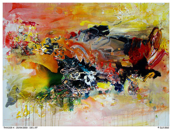 Abstract Jlo Thx Poster featuring the painting Thx1329-4 by Jlo Jlo