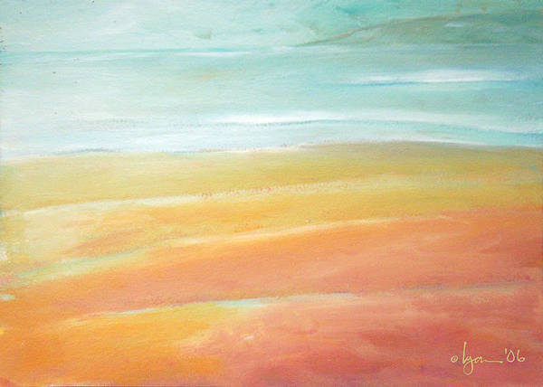 Oil Paintings Poster featuring the painting Tidal Ripples by Angela Treat Lyon