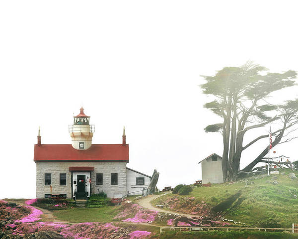 Battery Point Lighthouse Poster featuring the photograph Tides Of Battery Point Lighthouse - Northern Ca by Christine Till