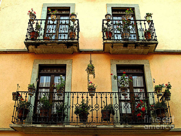 Darian Day Poster featuring the photograph Tiered Balconies by Mexicolors Art Photography