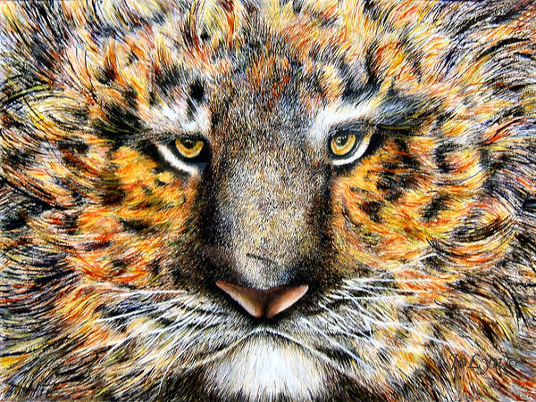 Tiger Poster featuring the painting Tig The Tiger With An Attitude by JoLyn Holladay
