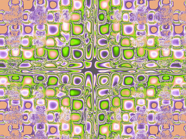 Digital Poster featuring the digital art Tiles by Thomas MacPherson Jr