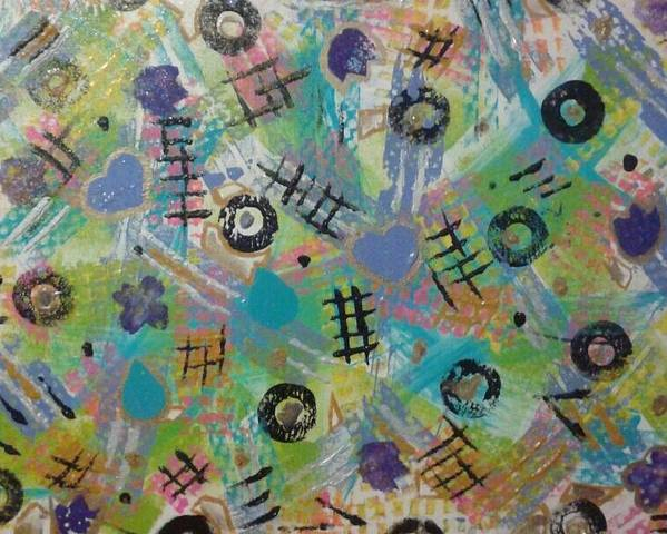 Abstract Poster featuring the painting Time Bonding Pc.1 by April Brown