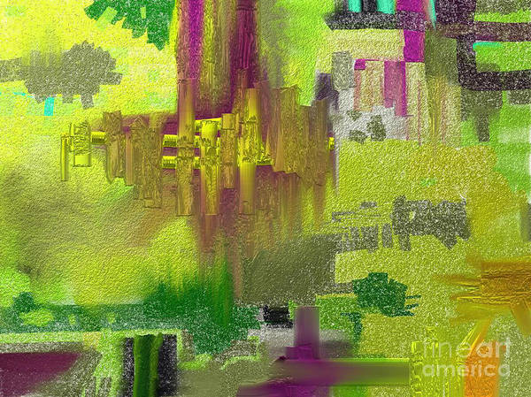 Abstract Poster featuring the painting Time by Jo Baby