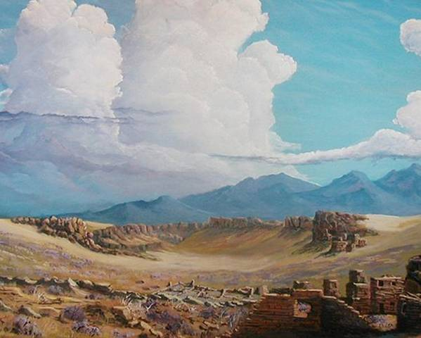 Landscape Poster featuring the painting Time Stands Still by John Wise