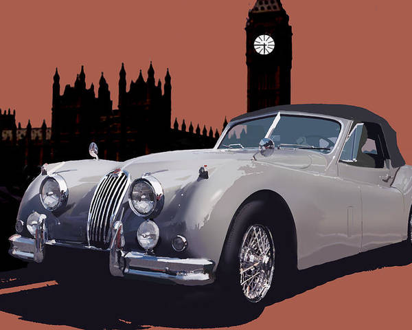 Jaguar Poster featuring the digital art Timeless by Richard Herron