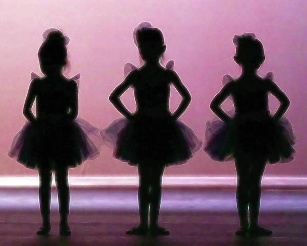 6da2dda66c7f Tiny Ballerinas Poster by Athena Mckinzie