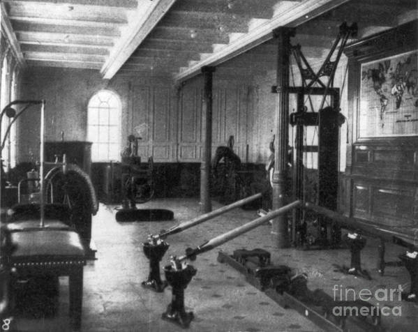 1912 Poster featuring the photograph Titanic: Exercise Room, 1912 by Granger